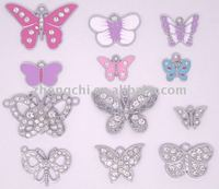 Rhinestone pave butterfly and enamel butterfly charms in fashion 2015