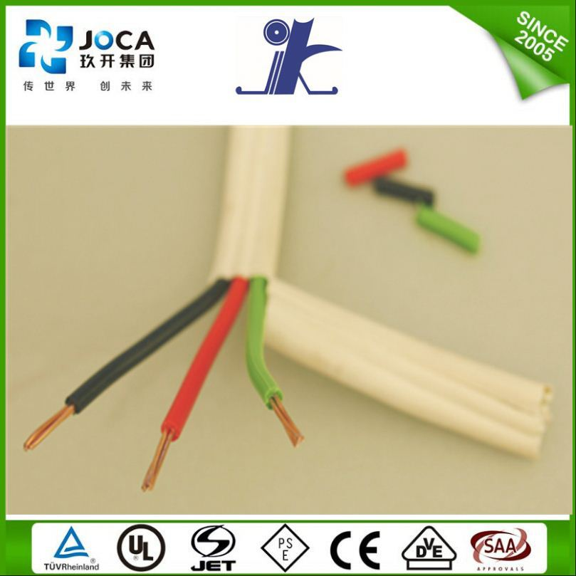 CE/VDE approved 20kv electric wire for house wiring flat TPS cable tough plastic sheathed cable flat electrical cable