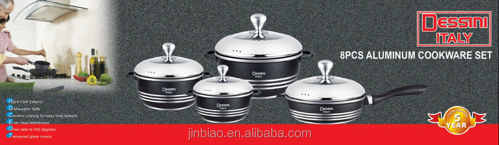 hot sales with high quality 8pcs die casting aluminum cooking sets/non-stick cookware sets/soup pot/fry pan