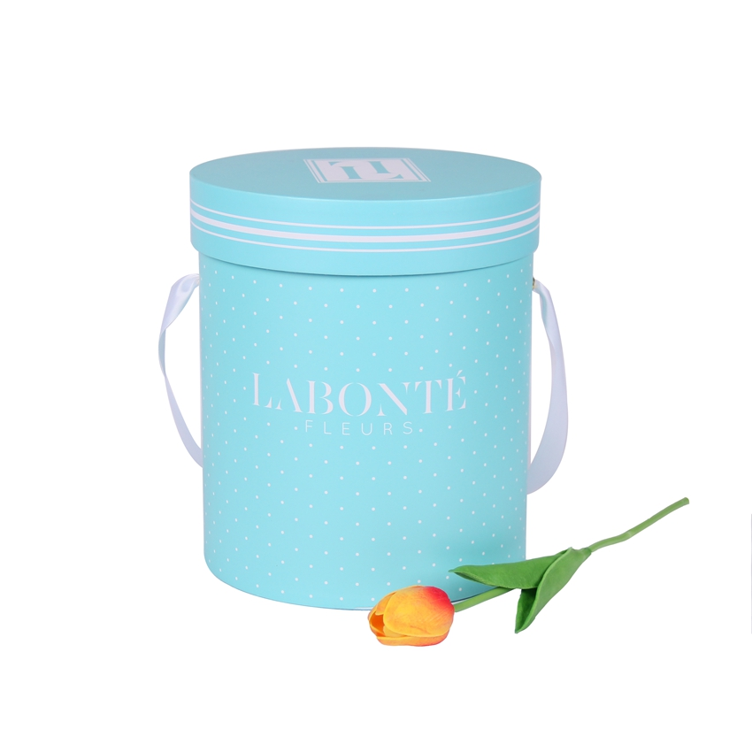 Custom cylinder hat flower packaging boxes round board