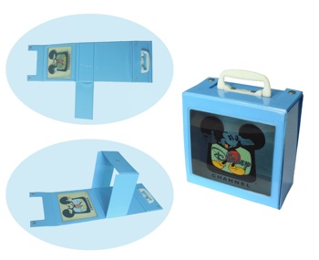 Plastic PVC gift tin box,lucency pvc body gift packing box with handle