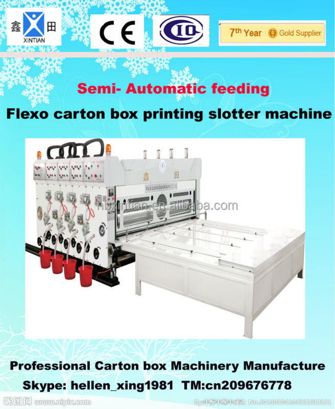 Carton box Flexo printing slotter packing box carton machines