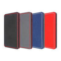 2018 Hot selling mobile phone accessories magnetic smart snap book leather cover for iphone X with business style men case
