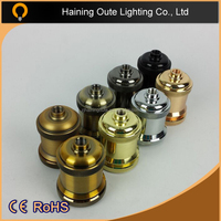 Wholesale Electric Brass E27 Lamp Holder with Rotary Switch Socket Suitable for Any Bulb