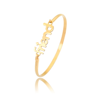 14K Gold Plated Bangle Fashion Women Friends Forever Jewelry Bracelet