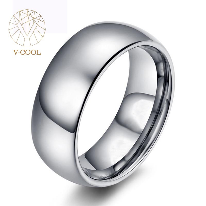 Mirror finished men tungsten cock ring jewelry blank