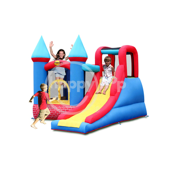 Happy hop Red Bricks Castle-9007 Jumping and Sliding Bouncer 2013 New Design