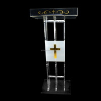 Transparent Custom Acrylica Podium/ Acrylic Church Pulpit witn Elegant Design