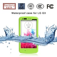 Shock/dust/dirt Proof Daily Waterproof Case for lg g3, EXW price
