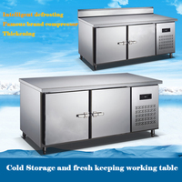 Commercial refrigerated storage cabinets workbench freezer Fresh keeping cabinet