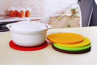 customize 18 x 18 cm Durable silicone round Mat Coaster Cushion in Ningbo Jiewei Kitchenware