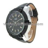 New Arival Fashion vintage leather quartz qf watch 2014 Luxury plating handgun watches