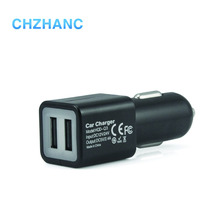 Customized portable 5V 2.4A dual USB car charger