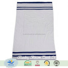 100 percent Mayfair Blue and White Striped Bath Towel HR bath towel