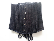 Women Fashion Vintage Brocade Lace Boned Renaissance Underbust Corset