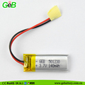 New GEB 501230 140mah 3.7V lithium battery outdoor flags 2017