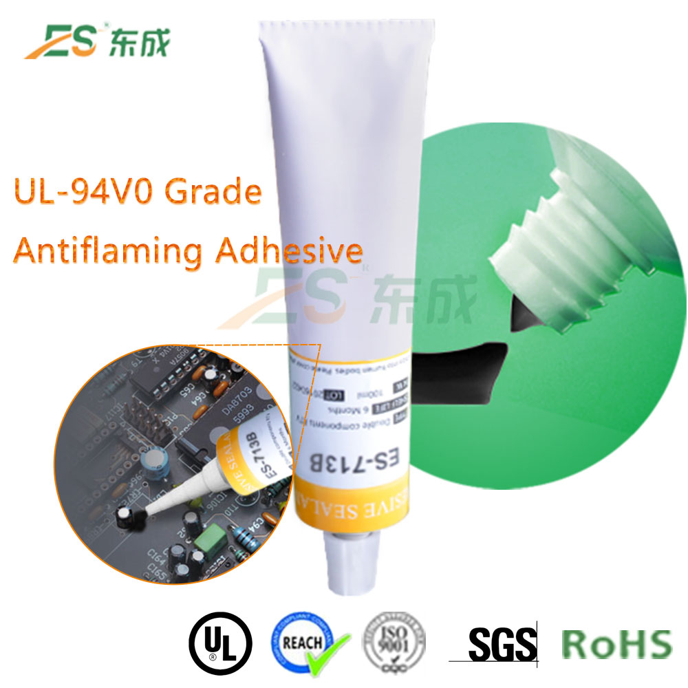 Adhesive ge silicone sealan UL94-V0 grade flame retardant glue for LED