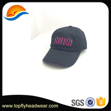 Unisex 100% cotton Customized Baseball Cap 3D Embroidery Embroidering logo