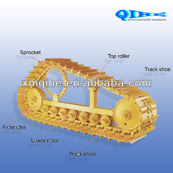 excavator bulldozer heavy equipment spare parts for PC200 PC300 PC400 PC600 PC800 D6D D7G D85 D155 undercarriage parts