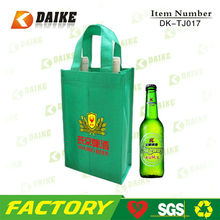 Fancy Reusable 2 Non woven Wine Bottle Tote Bag DK-TJ017