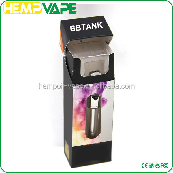 Metal Glass bud cartomizer 510 oil vaporizer cartridge empty plastic cartridge tube packaging