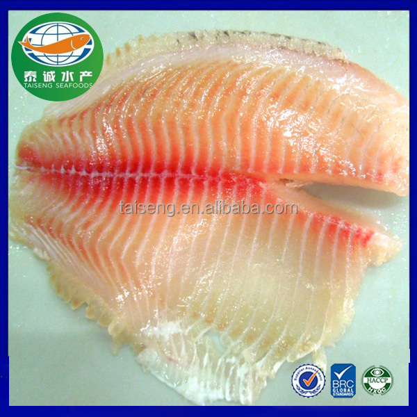 Best Selling Aquaculture Shallow Skinned Tilapia Fish Fillet For Sale