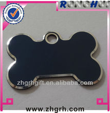 Indigo metal blank logo Military stainless dog tag manufactory