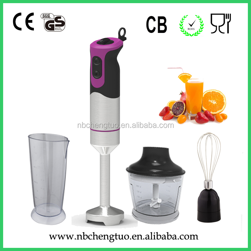 2017 new designe 700W factory price hand blender with whisk ,chopper& beaker attachment HB-718