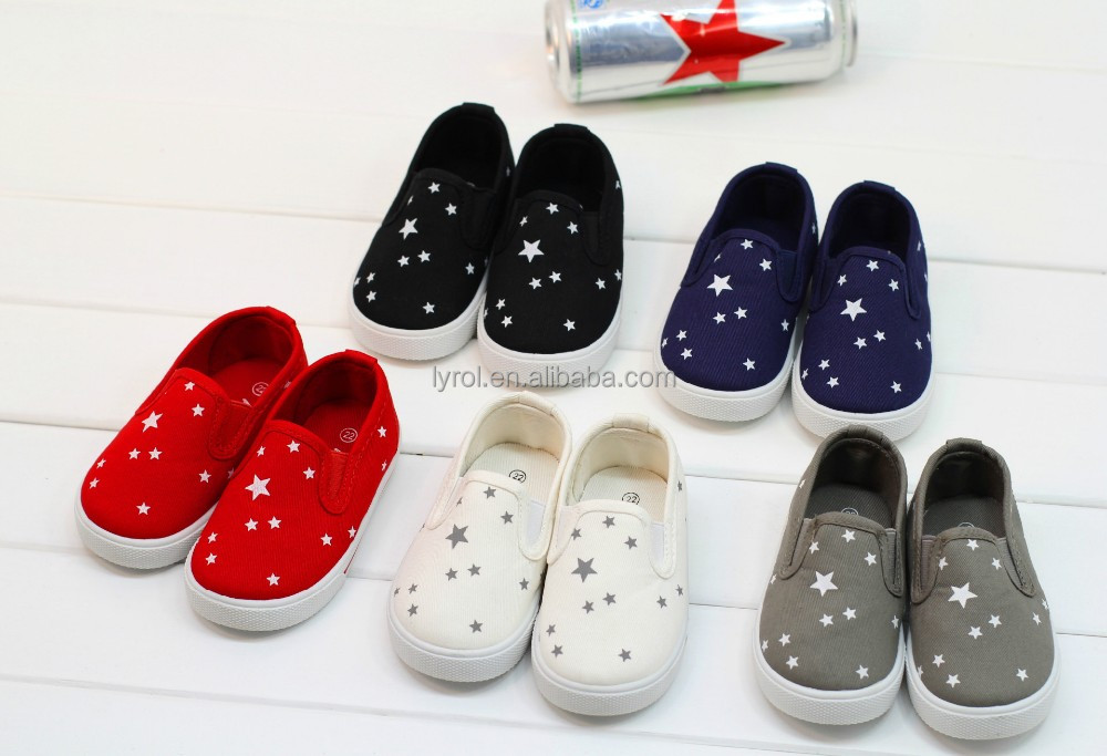 basic style kids canvas shoe slip on boys girls injection kid child casual canvas shoes footwear