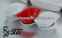 Durable and Decorative Colorful Ceramic Bowls/Ceramic Dishes Set(with Tray) for Buffet Food Serving