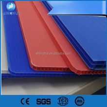 Custom size Lightweight Green 2mm pp ribbed hollow board for Advertising