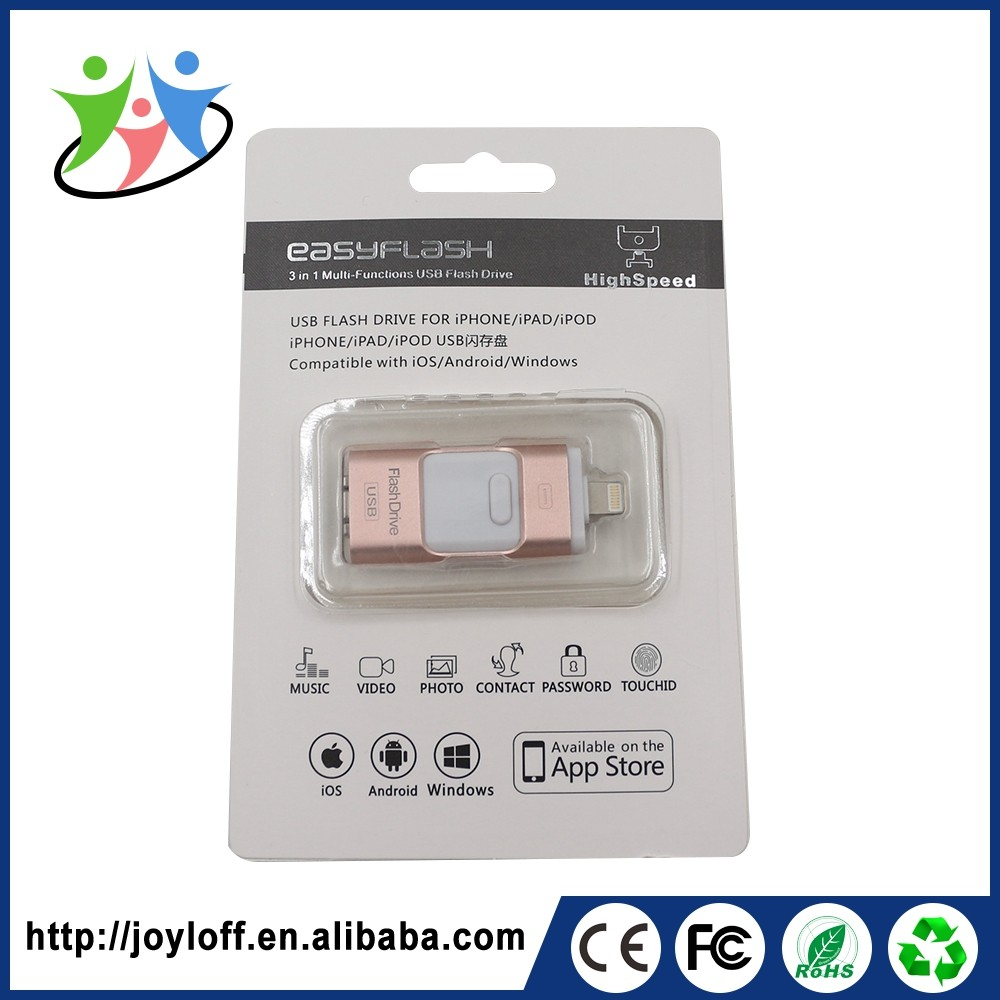 High Quality Dual Double Plug Interface Otg Mobile Phone Pc 8 Gb 16 Gb Usb Flash Drive