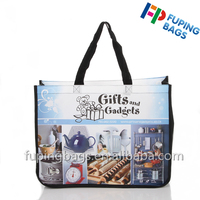 laminated handle nylon webbing non woven recycled tote bag