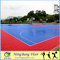 Hot sale Colorful Popular PP Click Synthetic Badminton Court Flooring