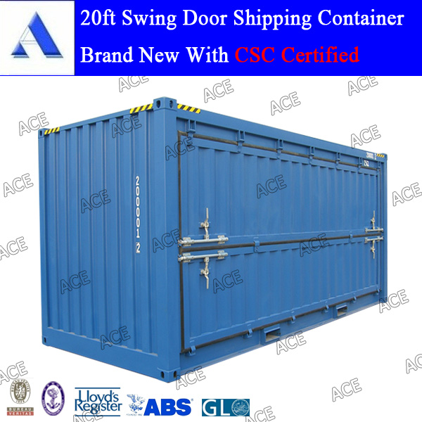 20ft high cube swing door shipping container