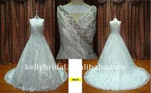 Heavy Crystal High Quality Lace New Arrvial Dresses Wedding Gowns