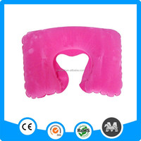 Popular flock inflatable neck pillow for kids