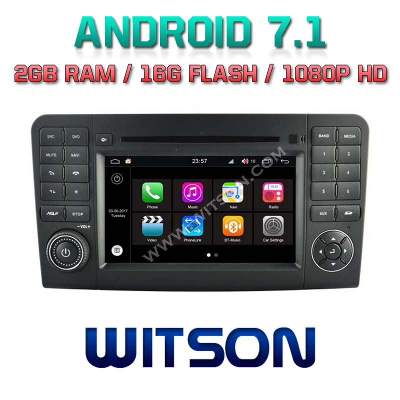WITSON S190 ANDROID 7.1 <strong>CAR</strong> <strong>DVD</strong> PLAYER FOR MERCEDES BENZ ML 320 ML 350 <strong>W164</strong> 2005 2012 GL X164 2005 2012 GL320 GL420 GL450 GL500