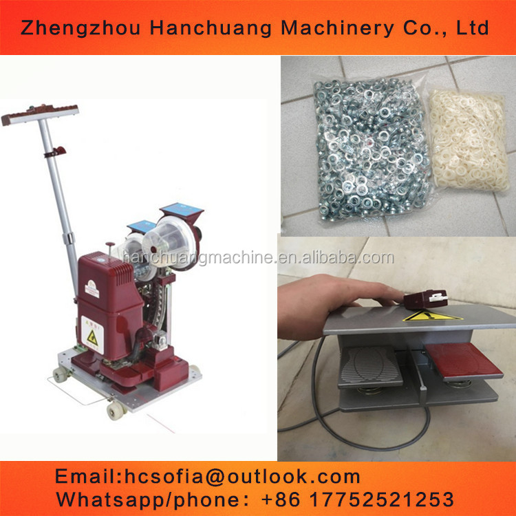 10mm automatic grommet machine/ grommet machine for advertising equipment/electric eyelet machine with foot pad