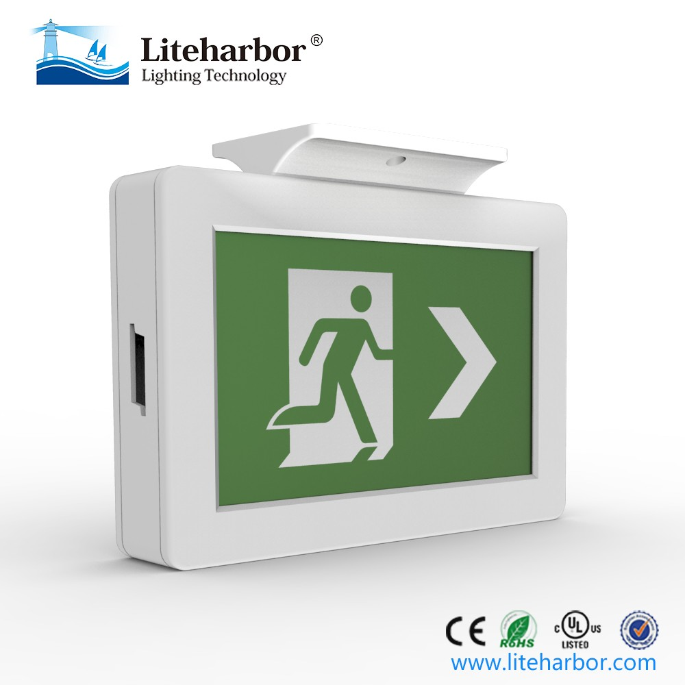 Ceiling and Wall Mounted ABS LED Running Man Emergency Exit sign with ETL listed