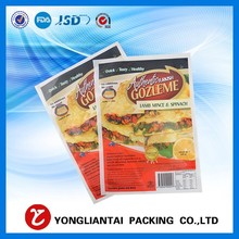 Hot sale frozen dumpling food grade plastic packaging compleat food bag