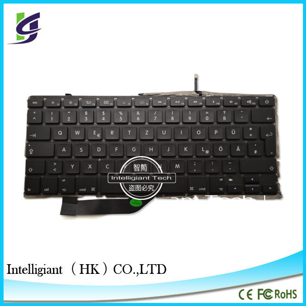 2014 New ! German / Germany / Deutsch Keyboard for MacBook A1398 Laptop keyboard with backlight