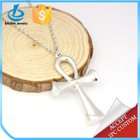 Latest fashion design Egypt jewelry silver plated cross necklace