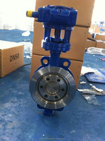 Yuda Valve Manufacturing wafer butterfly valve worm gear actuator