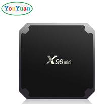 X96 Streaming Media Players Amlogic S905W Quad-core Android 7.1 Smart Set Top TV Box 2 USB 2G/16G Supports 3D 4K WIFI x96 mini