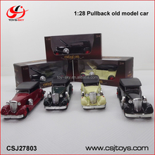 Children toys Four Color Mix Pull back Metal old model car with Open door.