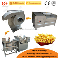 Commercial Fresh Potato Chips Production Line|French Fries Making And Fryer Machine/Product Line