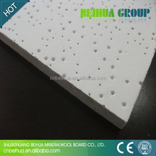 Best selling mineral fiber light weight suspended pin hole ceiling board