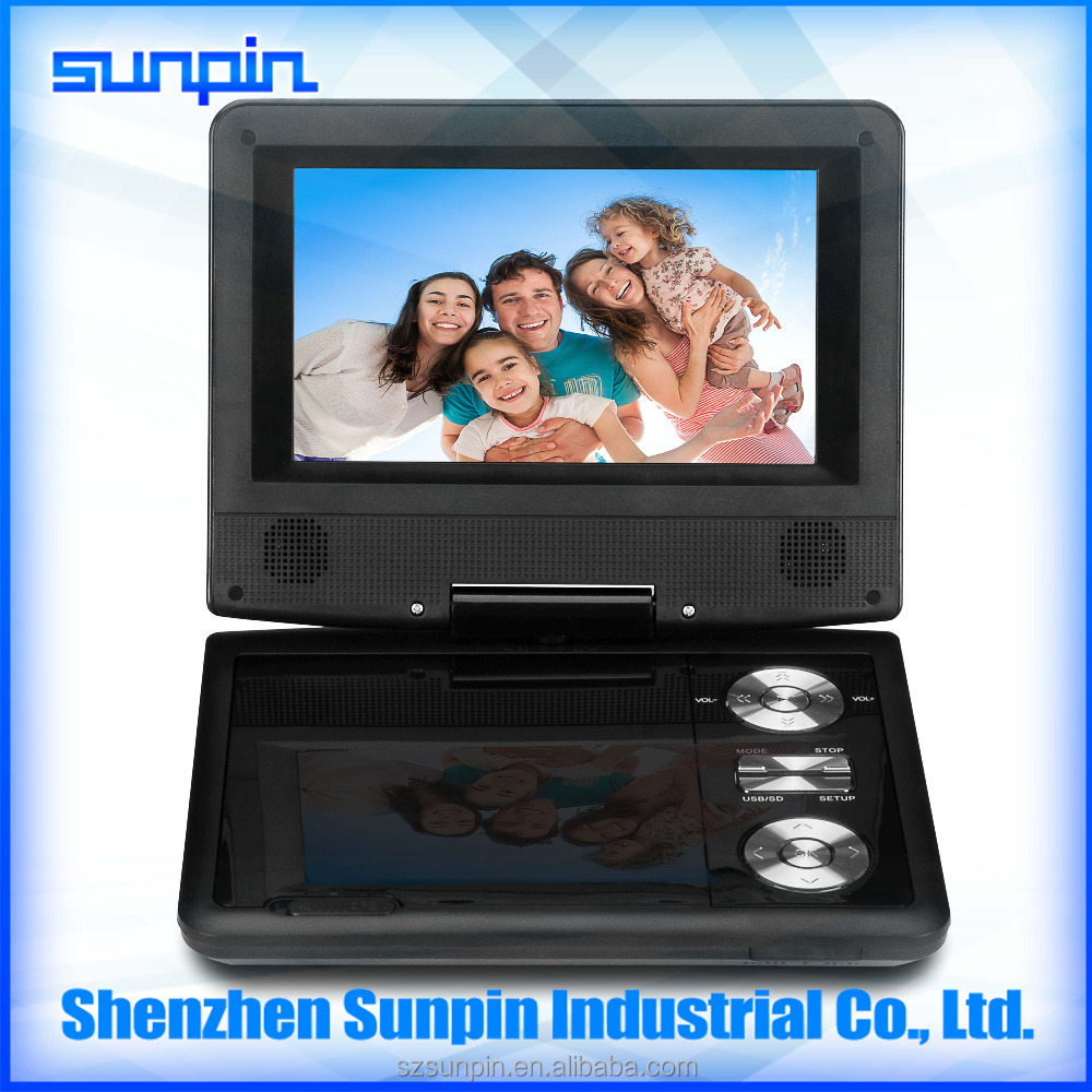 7 inch portable dvd player superior quality with tv radio for kids