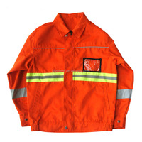 Fluorescent Red Waterproof Adult Reflective Safety High Visibility Jacket